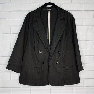 Maurices pinstriped blazer modern fit 3 3X